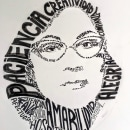 Mi Proyecto del curso: Retrato tipográfico dibujado a mano. Um projeto de Artes plásticas de Patricia Laos Salazar - 30.07.2020