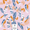 Paper Cut Out Leaves (disponible en @Patternbank). Um projeto de Design gráfico e Pattern Design de María Paula Gentile - 01.08.2020