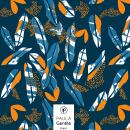 Dark Leaves (Disponible en @Patternbank). Um projeto de Design gráfico e Pattern Design de María Paula Gentile - 01.08.2020