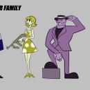 GANSTER FAMILY: Diseño cartoon estilo gráfico. Un proyecto de Animación, Diseño de personajes y Concept Art de Andrés Ostos Guerrero - 07.08.2020