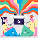 Podium Inside - Podcast Cover Art. A Illustration, Editorial Design, Digital illustration, and Digital Drawing project by Amatita Studio - 08.11.2020