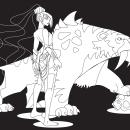 DISEÑO DE PERSONAJE_Guerrera. Un proyecto de Diseño de personajes, Dibujo digital y Pintura digital de Andrea Gomez - 05.08.2020