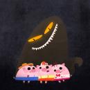 Los 3 cerditos. Un progetto di Illustrazione, Character Design, Illustrazione digitale e Illustrazione infantile di Cris Tamay - 25.08.2020