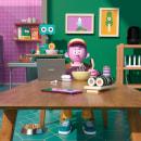 COCINA CON HUAWEI. A Design, Illustration, 3D, Character animation, 3D Animation, and Design 3D project by Aarón Martínez - 08.25.2020