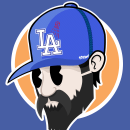 LA Dodgers. A Character Design, Vector Illustration, and Digital illustration project by federico capón - 08.25.2020