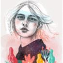 Mi Proyecto del curso: Retrato con lápiz, técnicas de color y Photoshop - RESILENCIA. Un proyecto de Ilustración, Creatividad, Dibujo a lápiz, Dibujo, Ilustración digital, Ilustración de retrato, Dibujo de Retrato, Ilustración botánica, Dibujo digital y Pintura digital de Mónica Burgos Llaguno - 26.08.2020