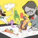 My project in Character Creation for Animation: Shapes, Color, and Expression course. Um projeto de Animação 2D e Design de personagens de Laura Ewing Ferrer - 05.09.2020