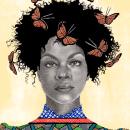 Black Princess. A Illustration, Fine Art, Pencil drawing, Drawing, Portrait illustration, Portrait Drawing, Artistic drawing & Ink Illustration project by Jéssica Correia - 09.08.2020