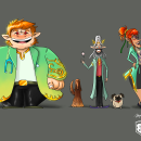 My project: Elf Doctors taking care of dogs. Um projeto de Ilustração, Design de personagens e Ilustração digital de Miguel Colina - 21.09.2020