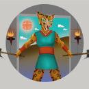Tigrillo inca. Um projeto de Ilustração, Design de personagens, Ilustração vetorial, Ilustração digital e Ilustração infantil de Nicolás Chamorro - 24.09.2020
