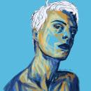 Man & Blue. Um projeto de Ilustração e Ilustração de retrato de Maialen Lleó - 25.09.2020
