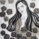 Mi Proyecto del curso: Ilustración en tinta china con influencia japonesa. Um projeto de Desenho a lápis, Desenho, Desenho de Retrato, Desenho realista e Desenho artístico de Milagro Chuquiyanqui - 03.08.2020