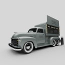 Food Truck - Chevrolet Pickup Advance Design. A 3D, Automotive Design, and Product Design project by Pablo Arenzana - 09.27.2020