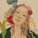 Pink Hair Lady. A Porträtillustration und Porträtzeichnung project by Hannah Bentley - 27.09.2020