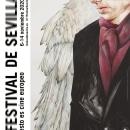 Cartel Festival Cine Europeo Sevilla 2020. Um projeto de Ilustração, Artes plásticas, Cinema e Pintura em aquarela de Julepe (and.me) Julio Serrano - 30.08.2020