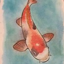 Koi. A Illustration, and Watercolor Painting project by Oscar Munguía - 10.02.2020