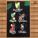 Pizarra Cócteles. Um projeto de Lettering, Pintura Acrílica, H e lettering de Rosa Valderrama - 03.08.2019