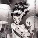 The Bride of Frankenstein. Un proyecto de Ilustración de Elysa Castro - 06.10.2020
