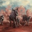 Escena de caza. Un proyecto de Ilustración, Bellas Artes, Ilustración digital, Concept Art y Pintura digital de Miquel Camio Jiménez - 07.10.2020