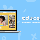 Educo: an online classes platform tailored for kids.. A UI / UX, Education, Graphic Design, and Web Design project by Bárbara de Zárate - 09.25.2020