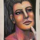 Meu projeto do curso: Retrato criativo em chiaroscuro com lápis. A Pencil drawing project by Elisabete Della Rosa Pimentel - 10.08.2020