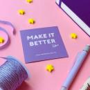 Make it Better - Purple Flat Lay. Un proyecto de Diseño, Fotografía, Dirección de arte, Fotografía con móviles y Fotografía para Instagram de Priscila Orozco - 09.10.2020