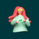 Recharge site illustrations. Um projeto de UI / UX, 3D, Direção de arte, Design de personagens, Design gráfico, Web design, Modelagem 3D, Design de personagens 3D e 3D Design de Ana Porta - 14.10.2020
