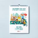 Calendario escolar de pared Diputación de Barcelona. Um projeto de Ilustração, Design editorial, Design gráfico, Ilustração digital e Ilustração editorial de vireta - 01.06.2020