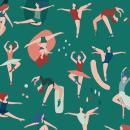 Estampados para Mon- Colección Ballet. Um projeto de Design de produtos, Pattern Design, Ilustração digital e Ilustração têxtil de vireta - 01.10.2020