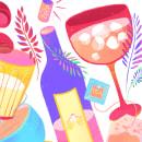 drinks, fruits & vegetables. Un projet de Illustration, Création de motifs et Illustration numérique de juliana takeuchi - 19.10.2020