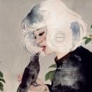 G R I S. Un proyecto de Bellas Artes, Collage, Pintura a la acuarela, Ilustración de retrato, Ilustración botánica e Ilustración con tinta de Coral - 19.10.2020