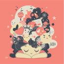 Mi Proyecto del curso: Ilustración vectorial con estilo. Um projeto de Ilustração vetorial, Ilustração digital e Ilustração infantil de Veronica Isabel Iezzi Rincon - 20.10.2020