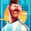 Futbol de revista. Un proyecto de Diseño, Ilustración y Dibujo digital de Edgar Rozo - 26.10.2020