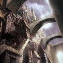 Fantasy Cityscape - mood painting [Proceso]. Um projeto de Ilustração, 3D, Arquitetura, Direção de arte, Ilustração digital, Videogames, Concept Art e 3D Design de Miguel Ligero Nieto - 27.10.2010