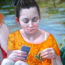 Donde habita el deseo, Rosa mística y medula son algunas de mis series temáticas en las que desarrollo un imaginario personal que me permite indagar cuestiones íntimas acerca del universo femenino... Um projeto de Pintura, Pintura em aquarela, Pintura Acrílica, Pintura a óleo e Teoria da cor de Florencia Fraschina - 06.11.2020