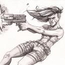 """""""Tyra. The Rebel"""". Um projeto de Ilustração, Design de personagens, Design de vestuário, Videogames e Ilustração com tinta de Jesus Vetia - 10.11.2020"""
