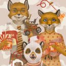 Wes Anderson: A tribute to love. Un proyecto de Ilustración, Ilustración digital e Ilustración de retrato de German Gonzalez Ramirez - 11.11.2020