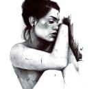 Quiero olvidarlo.. Um projeto de Desenho a lápis, Desenho, Desenho de Retrato, Desenho realista e Desenho artístico de Abril Cano Sanchez - 13.11.2020