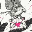 No Love / Print. A Illustration, Screen-printing, and Digital Drawing project by Edgar Islas - 11.15.2020