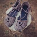 Sandalias de crochet. Un proyecto de Tejido de Roberta - 18.11.2020
