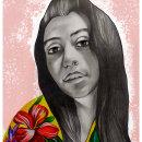 Mi Proyecto del curso: Retrato con lápiz, técnicas de color y Photoshop. Um projeto de Ilustração de Kyara Jurado - 20.11.2020