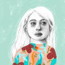 Mi Proyecto del curso: Retrato con lápiz, técnicas de color y Photoshop. Um projeto de Ilustração de Gabriela Medellin - 23.11.2020