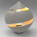 Lámpara Gout. Um projeto de 3D e Modelagem 3D de Jaume Galiana Zaragoza - 24.11.2020