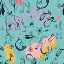 EL BOSCO PRINTS. Um projeto de Ilustração, Pattern Design, Ilustração digital e Ilustração têxtil de Maria Logos - 24.11.2020
