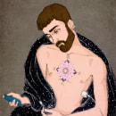 Retrato de un joven en plena pandemia. Um projeto de Ilustração, Ilustração digital, Ilustração de retrato, Desenho de Retrato e Desenho artístico de Abel Cao - 25.11.2020