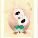 Cute Rowlet. Um projeto de Ilustração de Ana Dávila - 30.11.2020