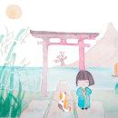 Proyecto: Ilustración en acuarela con influencia japonesa. Un proyecto de Ilustración y Pintura a la acuarela de Carty Party - 30.11.2020