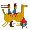 Google Doodle, día Nacional de Chile 2017. Um projeto de Ilustração e Ilustração editorial de Paloma Valdivia - 30.11.2020