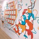 Mural Vocento. Un proyecto de Ilustración, Diseño de interiores, Ilustración vectorial, Dibujo e Ilustración digital de Carlos Arrojo - 02.12.2020