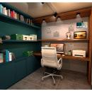 OFICINA. Un proyecto de 3D, Arquitectura, Arquitectura interior, Decoración de interiores e Interiorismo de Gisella Callegari - 02.12.2020